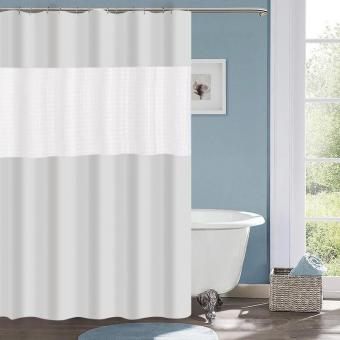 Штора для ванной 3D PEVA 180*180 см мод. WLE-YJ08 бежевая