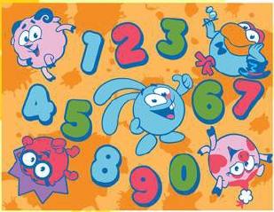 Коврик Смешарики - цифры 200 0,57*0,76