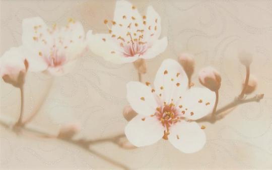 Декор настенный Unitile Сакура коричневый декор 02 250х400