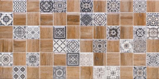 Керамическая плитка настенная LB Ceramics Астрид Декор 3 натуральный 1041-0242 20х40