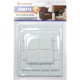 Протекторы защит. из фетра 22*22mm, 30*30mm, 110*130mm VORTEX 26002