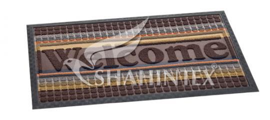 Коврик придверный LUX SHAHINTEX multi-color 80*120 шоколадный 37