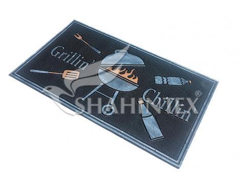Коврик придверный резиновый с покрытием SHAHINTEX 45*75 SH23 серебро