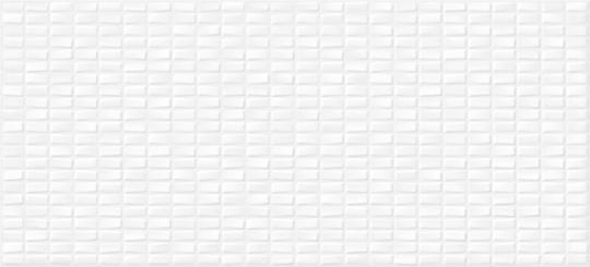 Керамическая плитка Cersanit Pudra мозаика, рельеф, белый, 20x44, Сорт1