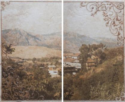 Декоративное панно Unitile Palermo beige panno 01 500х400