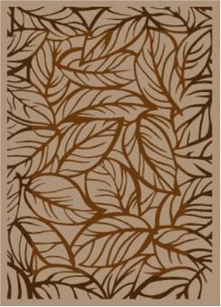 Ковер Лилиум Шанель  1,6*2,3 4719 Camel/brown