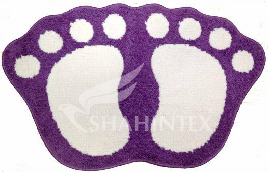 Коврик для ванной комнаты Shahintex Microfiber Лапки соединенные