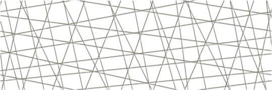 Декор Cersanit Vegas, белый, 25x75